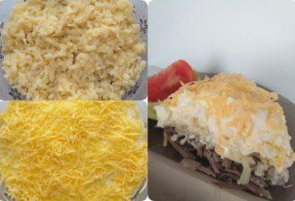 Вкусный и сытный слоёный салат с печенью (пошаговый рецепт с фото)