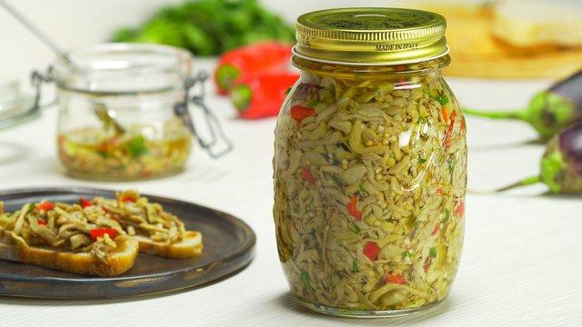 Маринованные баклажаны в маслепо-итальянски
