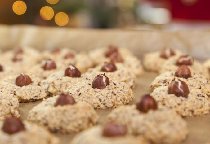 Песочное печенье с лесными орехами