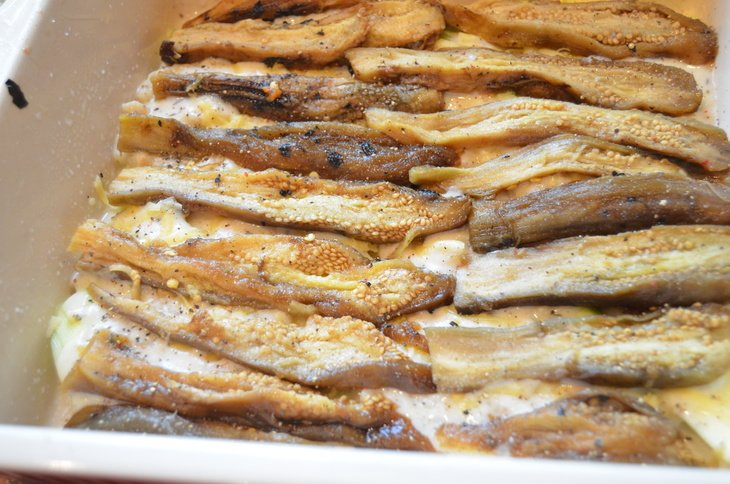 Кабачковая лазанья с печеными овощами