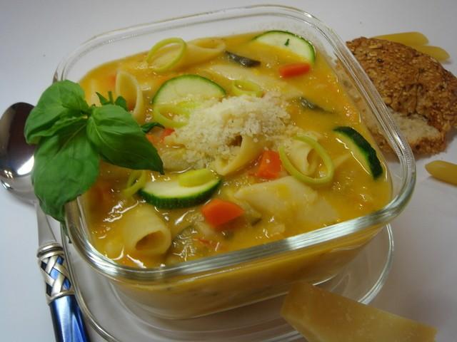 Суп минестроне с овощами за 30 минут