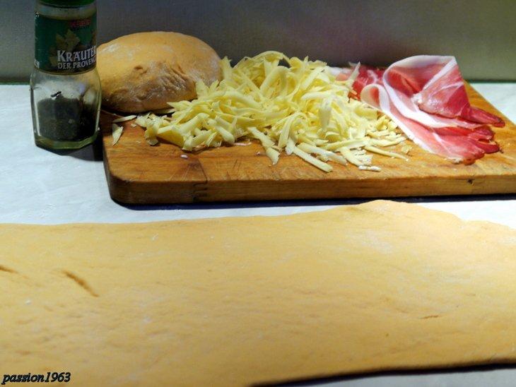 Экспресс-багеты с сыром и ветчиной