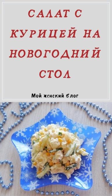 Салат с курицей на новогодний стол