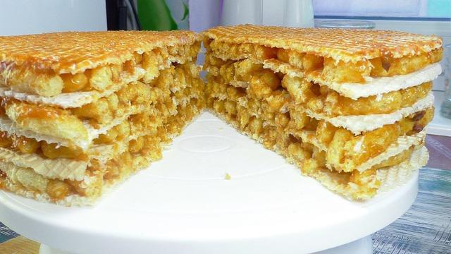 Торт без выпечки, без печенья, без желатина