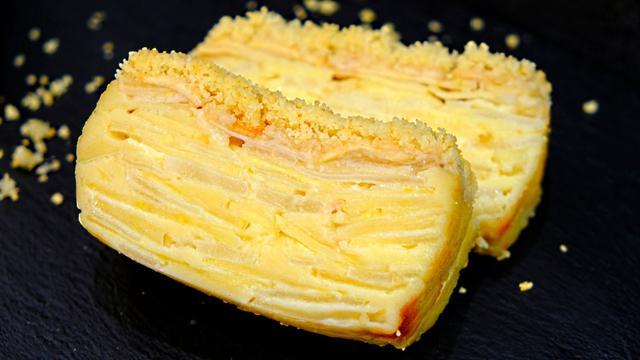 Пирог невидимка с яблоками и грушами