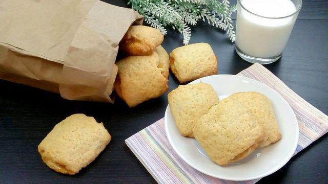 Песочное печенье с яблочной начинкой