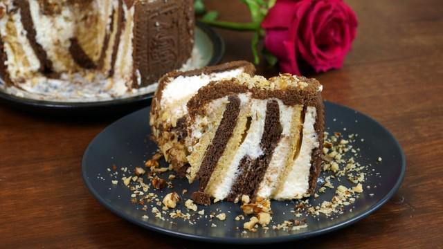 Сливочный торт без выпечки за 10 минут