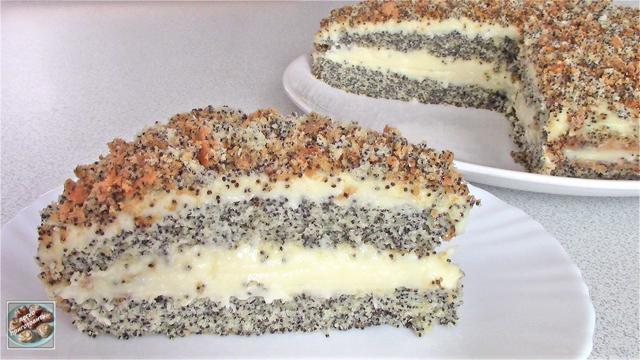 Нежный маковый торт с кокосовым ароматом