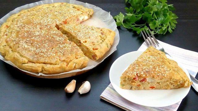 Пирог ленивая пицца