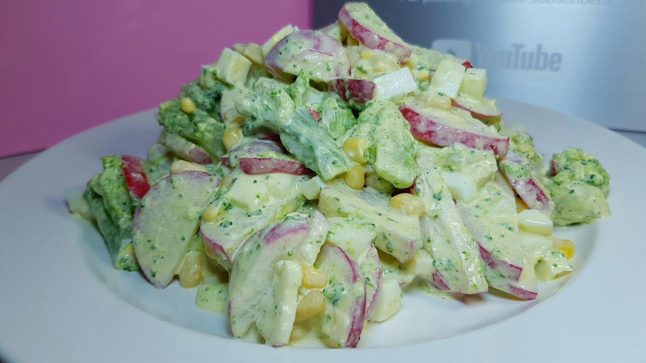 Роскошный салат на каждый день. Очень лёгкий и простой в приготовлении