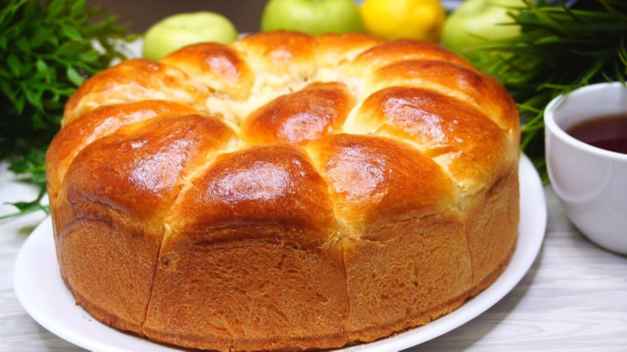 Воздушный отрывной пирог «Сюрприз» с очень вкусной яблочной начинкой