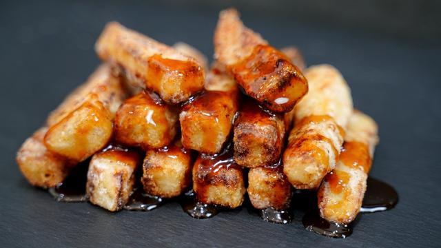 Хрустящие баклажаны в кисло-сладком соусе