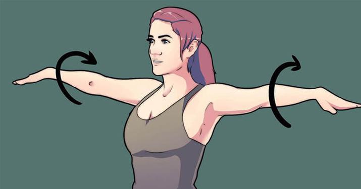 Упражнение круговые махи руками необходимо всем делать ежедневно
