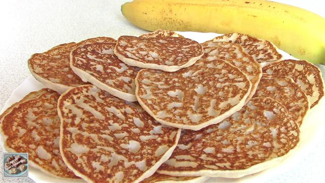 Банановые оладьи без яиц, сахара и молока