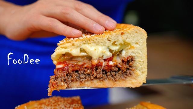 "Мясной пирог ""чизбургер"""