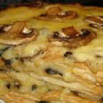 Картофельно-грибной закусочный торт Наполеон