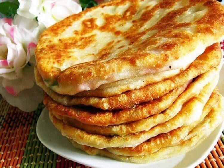 Кефирные лепёшки с сыром быстрого приготовления