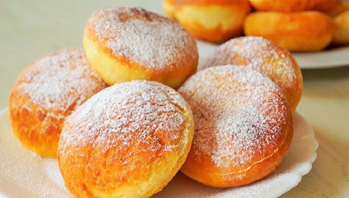 Пышные и очень нежные домашние пончики