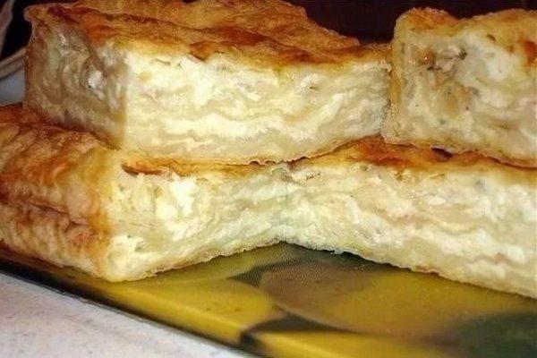 Самый простой домашний пирог с сыром из лаваша