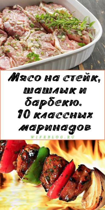 Мясо на стейк, шашлык и барбекю. 10 классных маринадов
