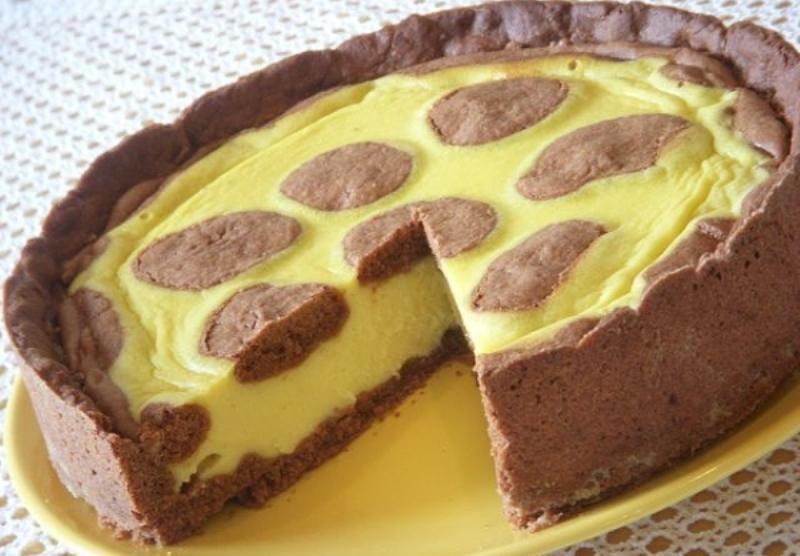 Жираф - нежнейший сметанный пирог с творогом