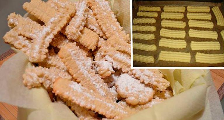 Рецепт ароматного песочного печенья из далёкого детства