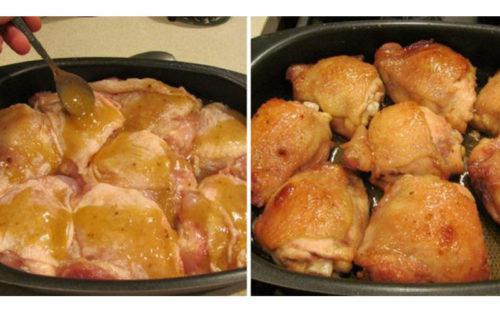 Куриные бёдрышки в пикантном медово-соевом маринаде