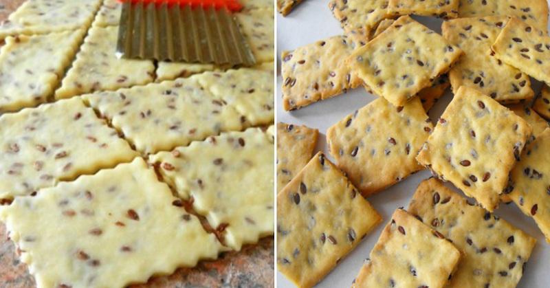 Самое полезное и хрустящее галетное печенье с семенами льна