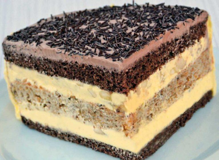 Этот потрясающий шоколадно-ореховый торт украсит любой праздник