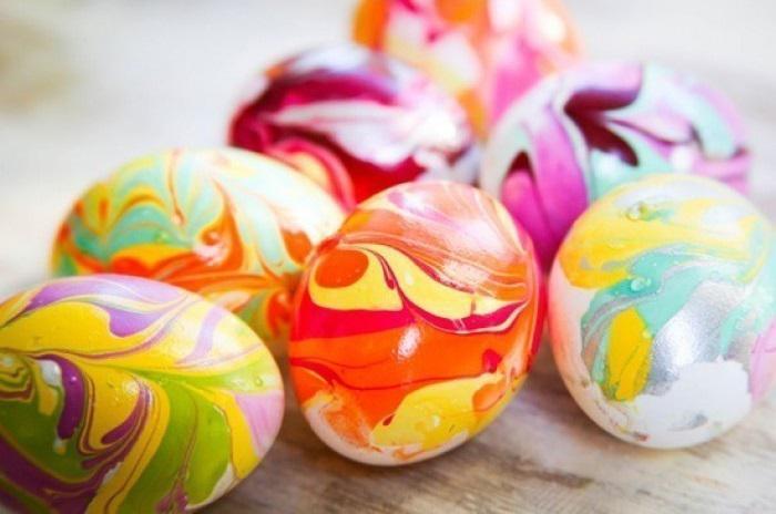 Как очень красиво и оригинально покрасить яйца к Пасхе