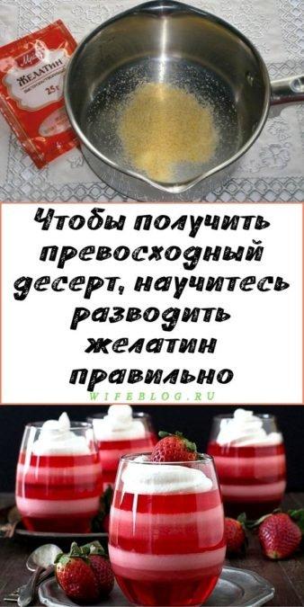 Чтобы получить превосходный десерт, научитесь разводить желатин правильно