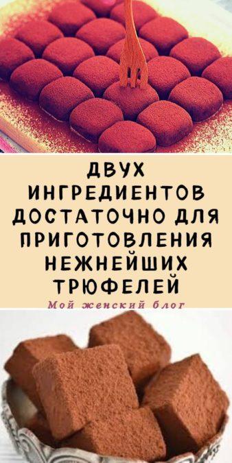 Двух ингредиентов достаточно для приготовления нежнейших трюфелей