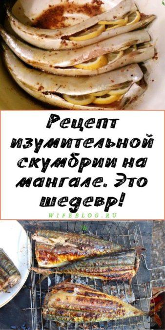 Рецепт изумительной скумбрии на мангале. Это шедевр!