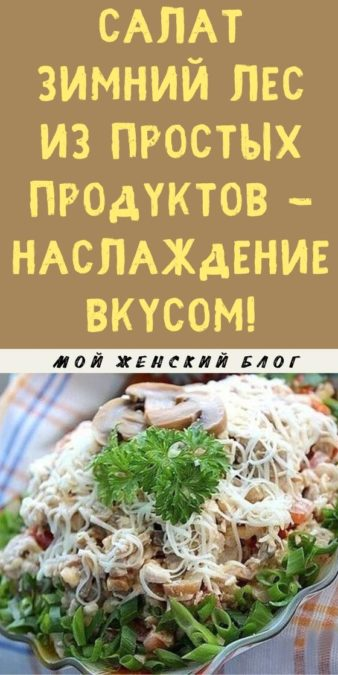 Салат Зимний лес из простых продуктов - наслаждение вкусом!