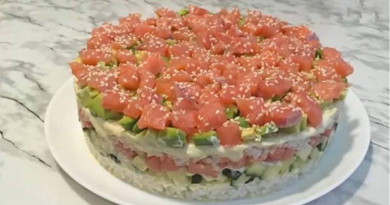 Салат как суши, только без мороки с завёртыванием