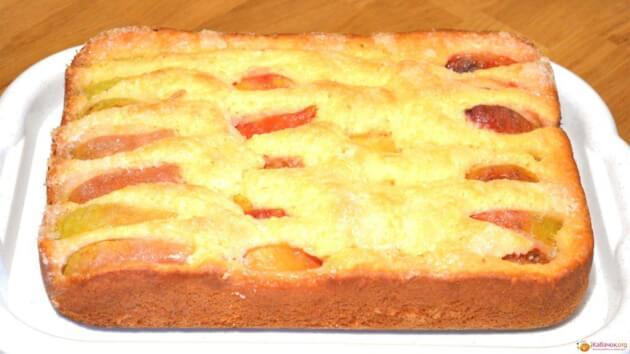 Универсальный фруктовый пирог моментального приготовления